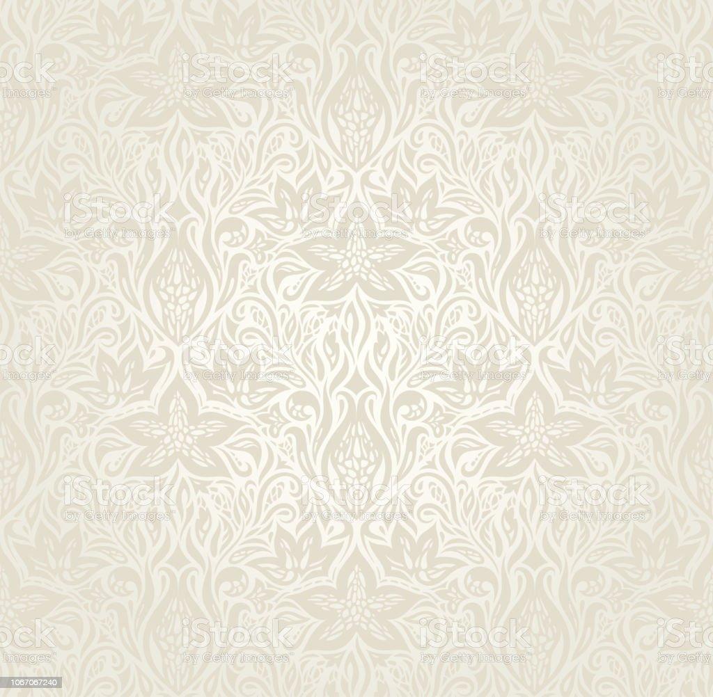 Wedding Pale Floral Pattern Wallpaper Background Design Stock Illustration Download Image Now Istock