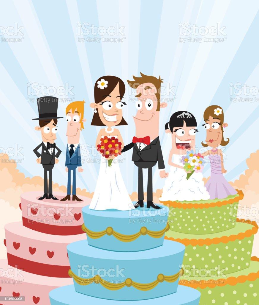 Festa de casamento - ilustração de arte em vetor