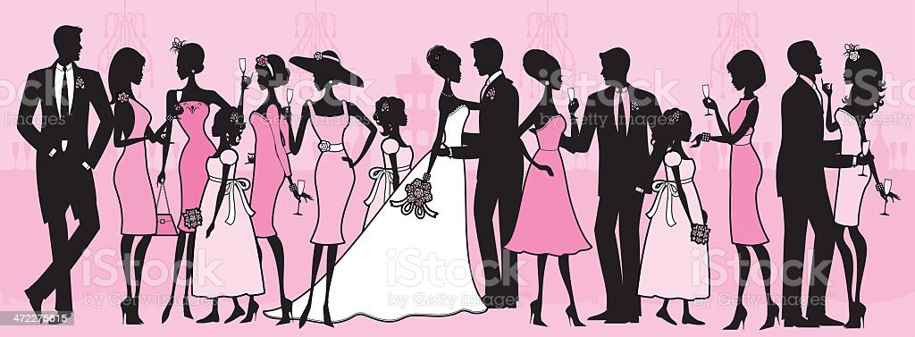 wedding party stock vector art more images of adult 472275615 istock rh istockphoto com wedding party clipart for wedding program Wedding Party Entrance