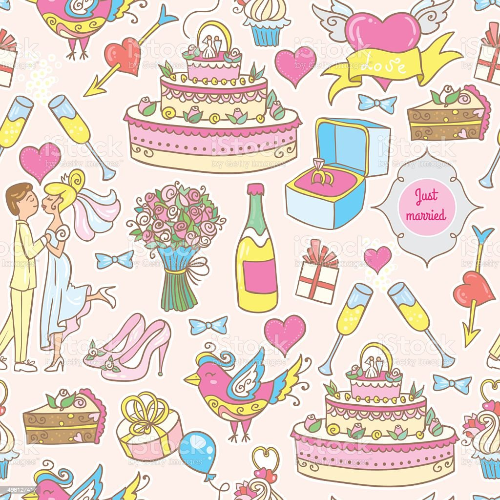 Wedding pattern royalty-free wedding pattern stock vector art & more images of animal markings