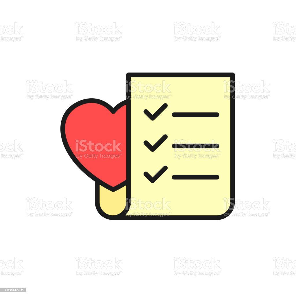 Wedding Planning Checklist Icon To Do List Paper With Love