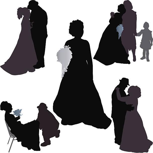 wedding reception - father daughter wedding dance stock illustrations, clip art, cartoons, & icons