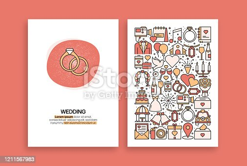 istock Wedding Related Design. Modern Vector Templates for Brochure, Cover, Flyer and Annual Report. 1211567983