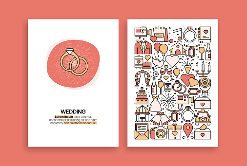 Wedding Related Design. Modern Vector Templates for Brochure, Cover, Flyer and Annual Report.