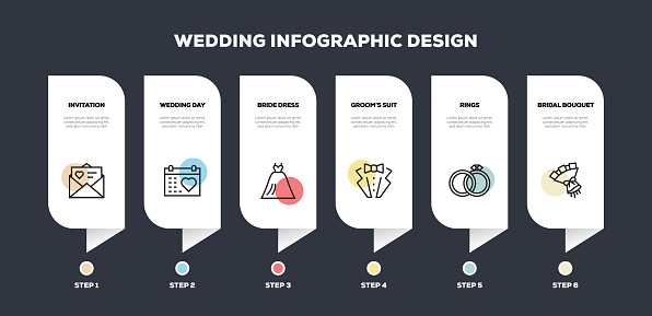 Wedding Related Line Infographic Design