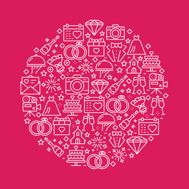 wedding related pattern design - wedding stock illustrations, clip art, cartoons, & icons