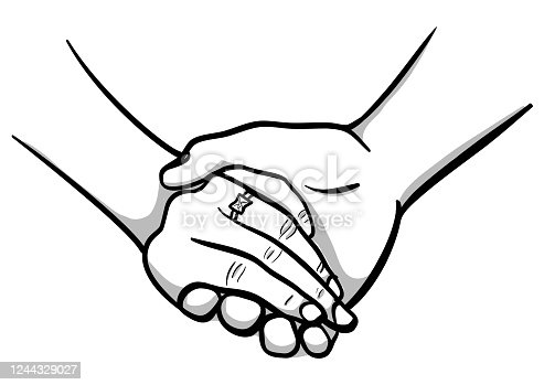 istock Wedding Ring Hand Holding 1244329027