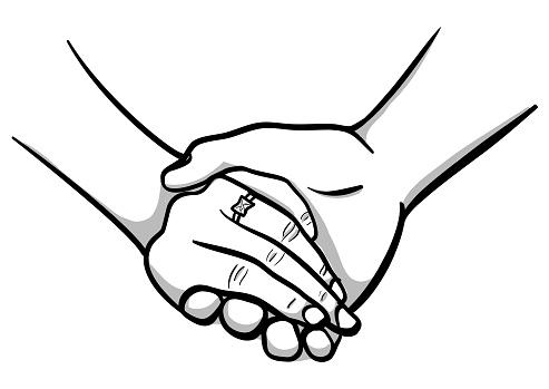 Wedding Ring Hand Holding