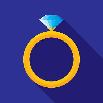 Wedding Ring Icon Flat