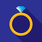istock Wedding Ring Icon Flat 507169572