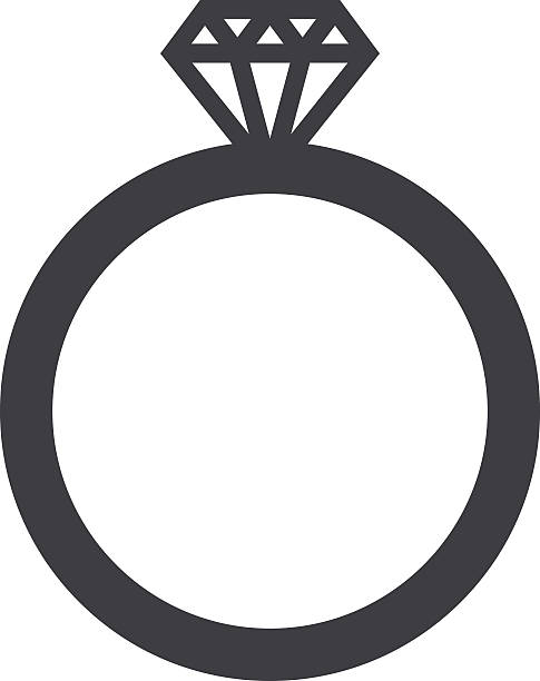 ehering symbol, moderne minimalistische flat-design stil vektor illustration - trauring stock-grafiken, -clipart, -cartoons und -symbole