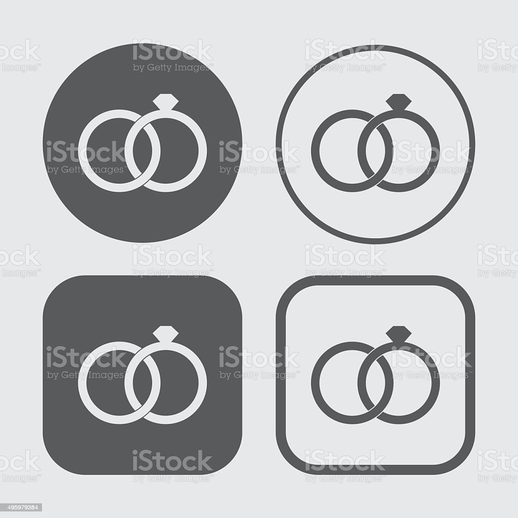 Wedding Ring Icons vector art illustration