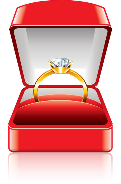 Royalty Free Engagement Ring Box Clip Art, Vector Images ...