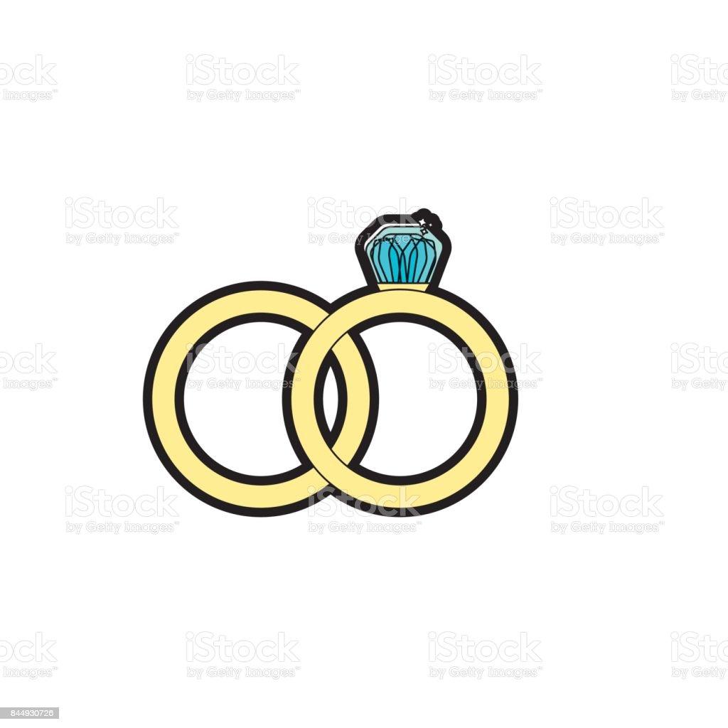 Hochzeit Ring Symbolisch Die Liebe Stock Vektor Art Und Mehr