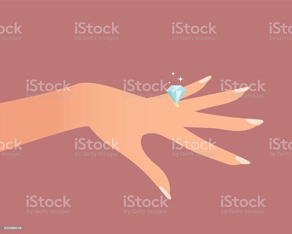 Anillo de bodas  - ilustración de arte vectorial