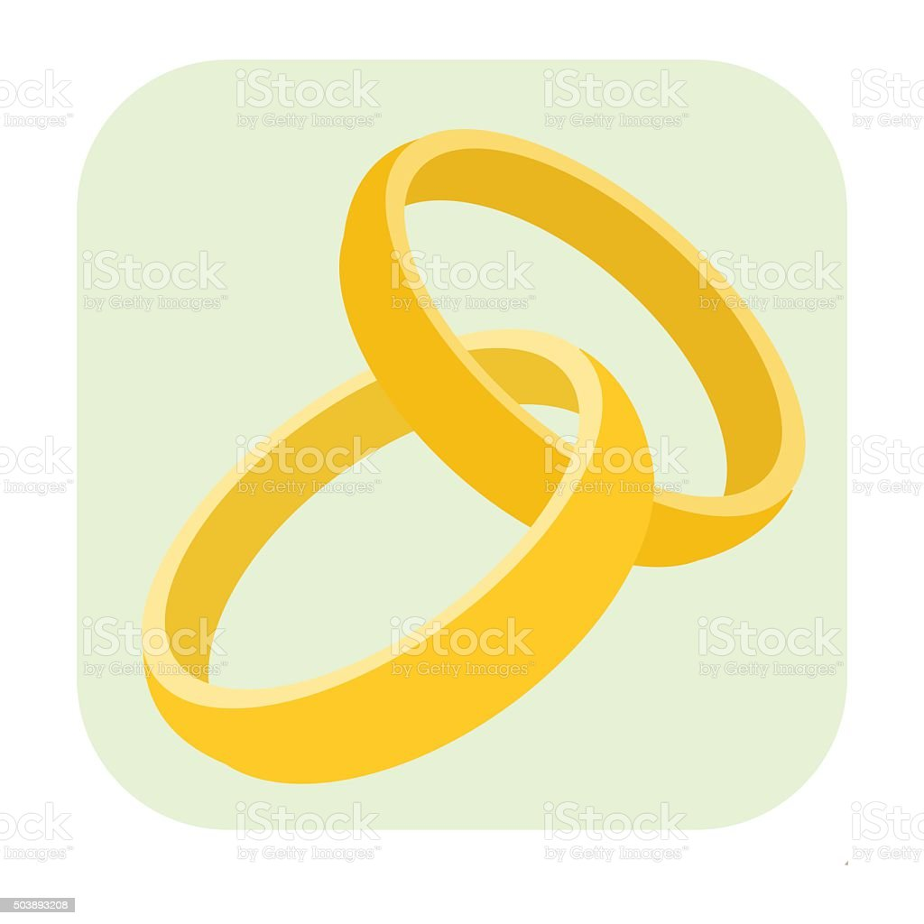 Wedding Rings Cartoon Icon Stock Illustration - Download Image Now