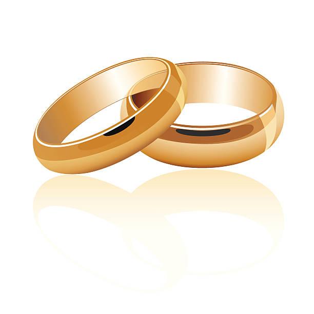 обручальные золотые кольца - four seasons stock illustrations