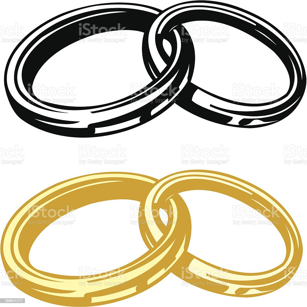 Wedding Rings Homosexual Or Heterosexual Couple Stock Vector Art