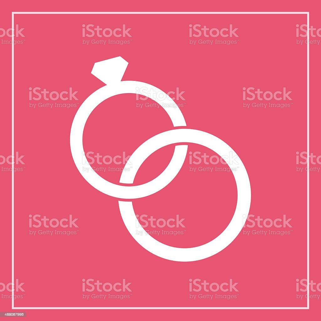 Wedding Rings Icon Modern Minimal Flat Design Style Vector ...