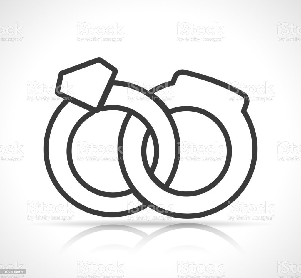 Wedding Rings Icon On White Background Stock Vector Art More