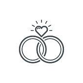 istock Wedding Rings Icon 1095813972