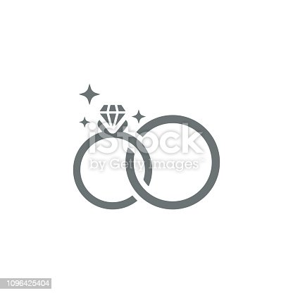 Wedding rings icon,vector illustration. EPS 10.