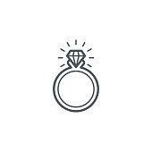 Wedding rings icon,vector illustration. EPS 10.