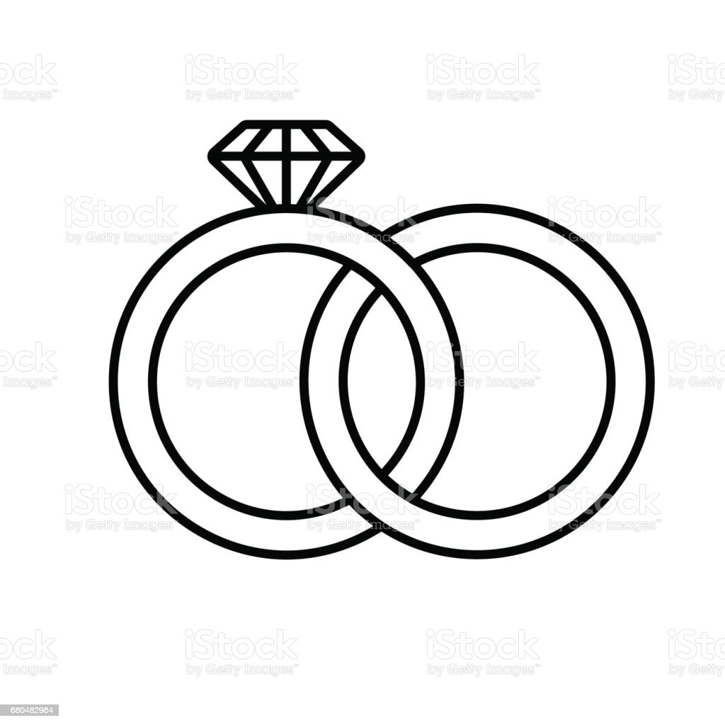 wedding rings icon stock vector art more images of art 680482964 rh istockphoto com free wedding vector design free wedding vector clip art