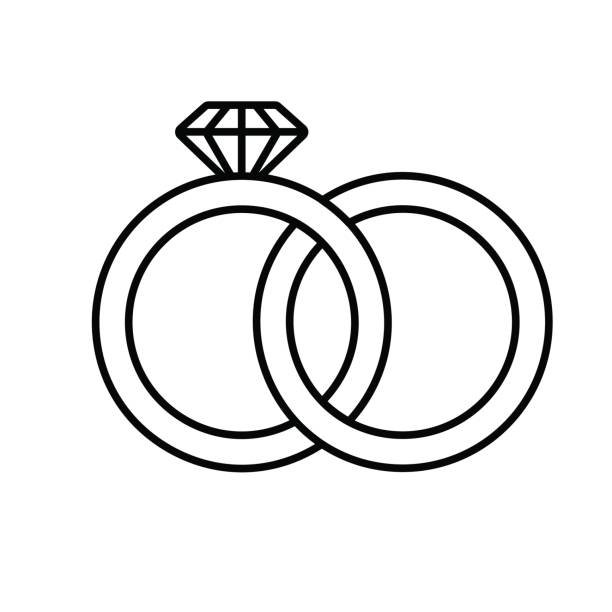best wedding rings illustrations royalty free vector
