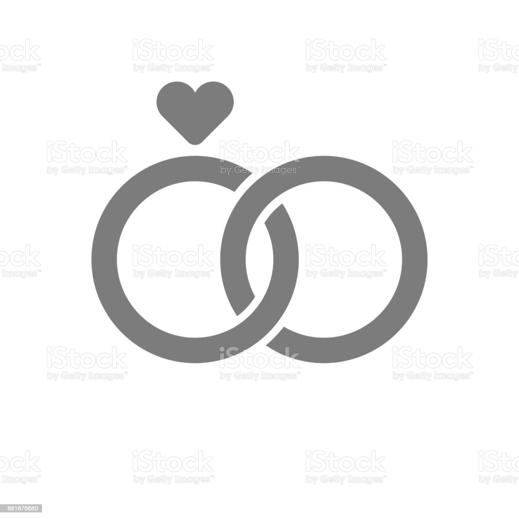 wedding rings icon vector art illustration