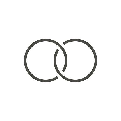 Trauringe Symbol Vektor Lineringesymbol Stock Vektor Art