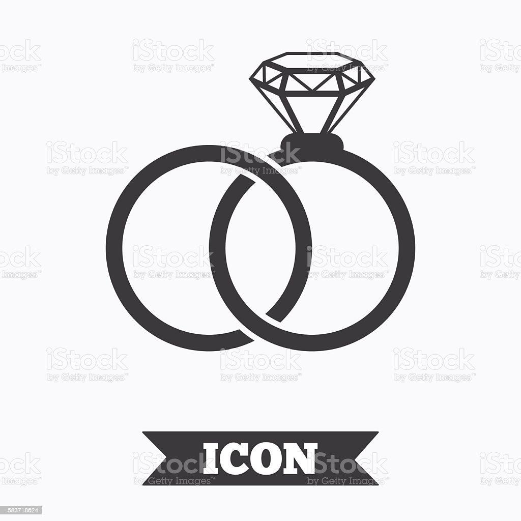 Hochzeit Ringesymbol Engagement Symbol Stock Vektor Art Und Mehr