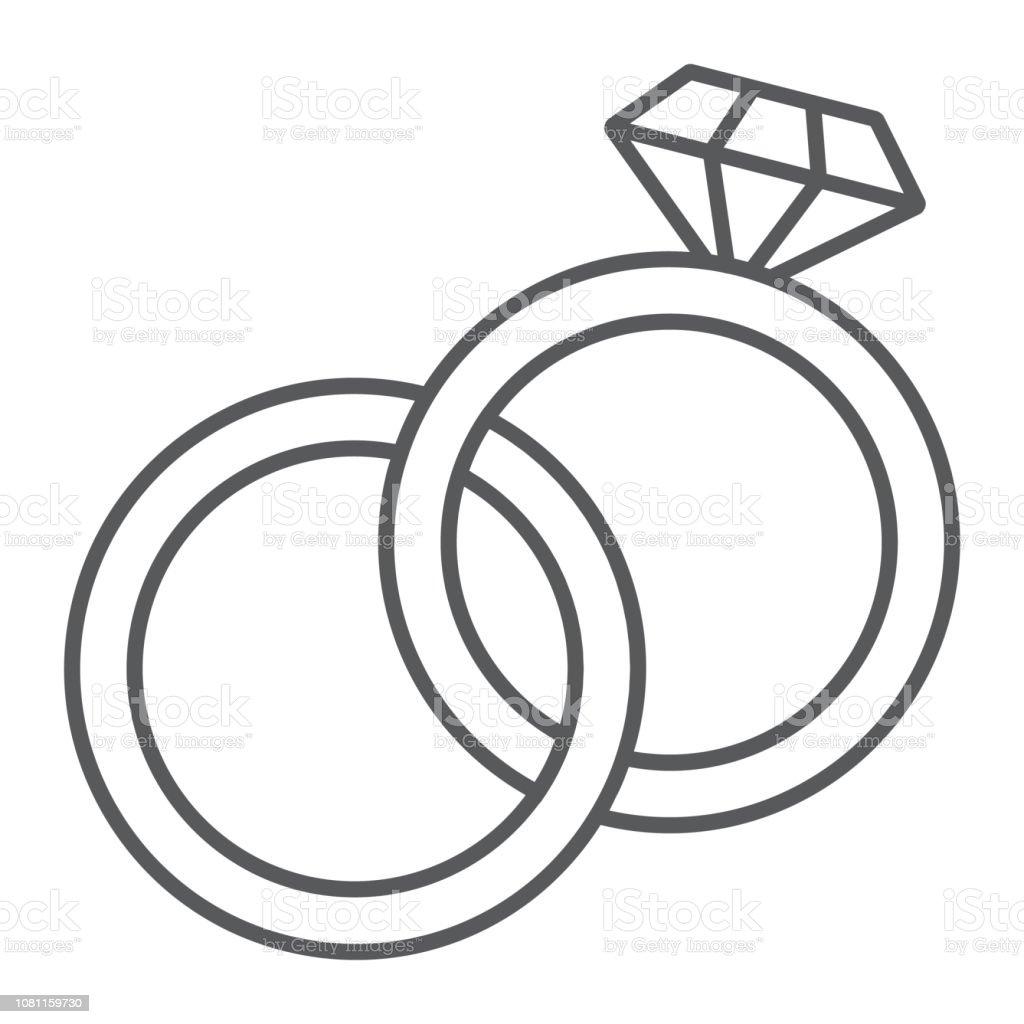 dessin bagues mariage