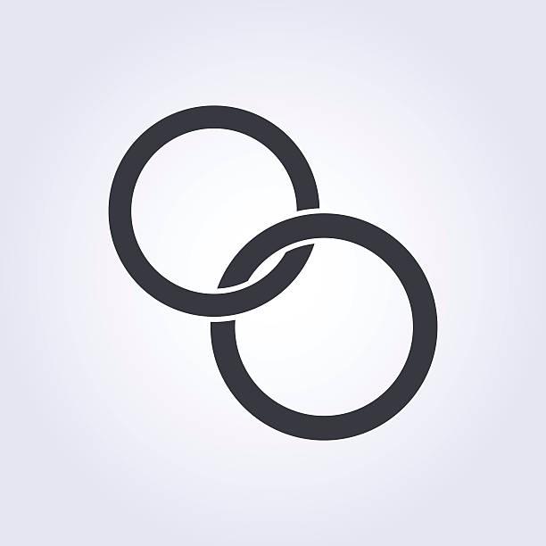 hochzeit ringe vektor icon, moderne minimalistische flachen design-stil - trauring stock-grafiken, -clipart, -cartoons und -symbole