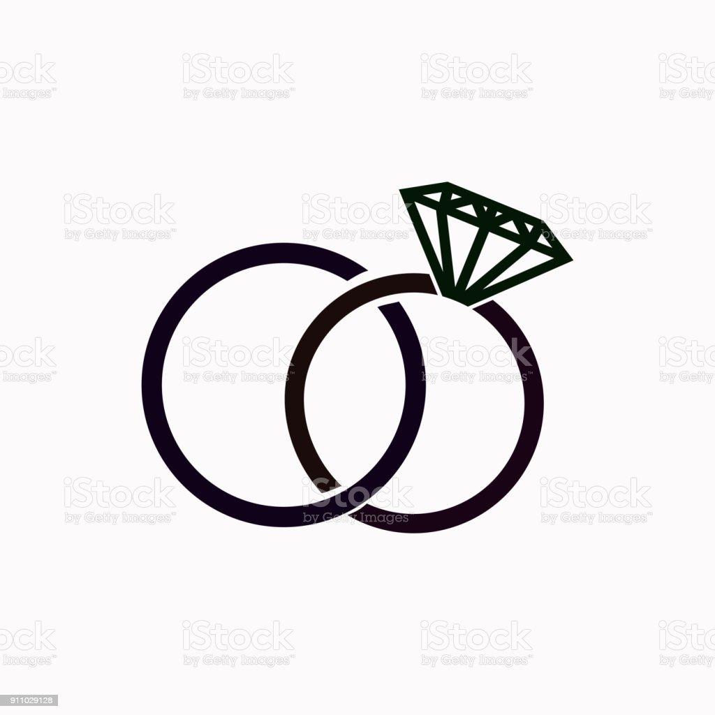 Hochzeit Ringe Vektorsymbol Stock Vektor Art Und Mehr Bilder Von