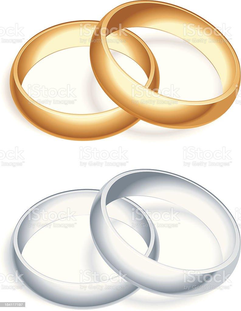 Wedding rings. vector art illustration