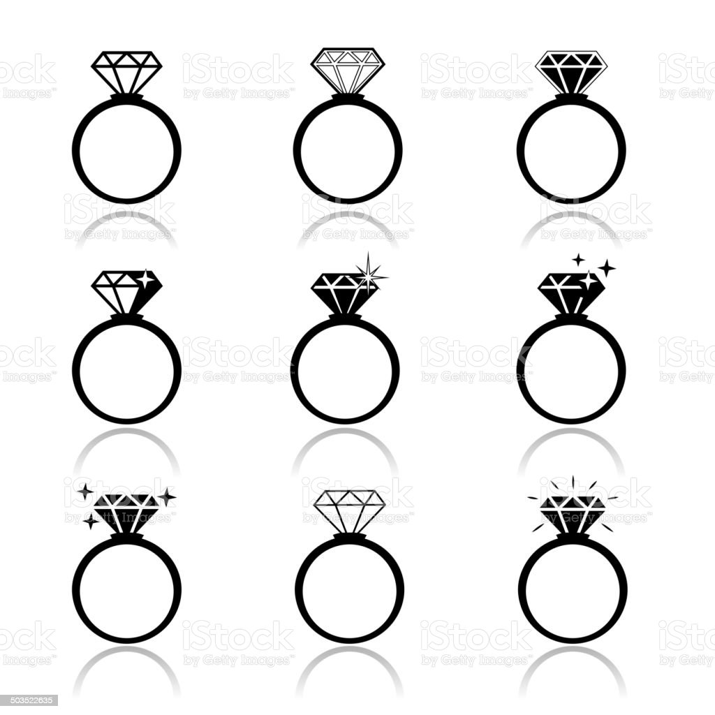 Wedding rings royalty-free stock vector art