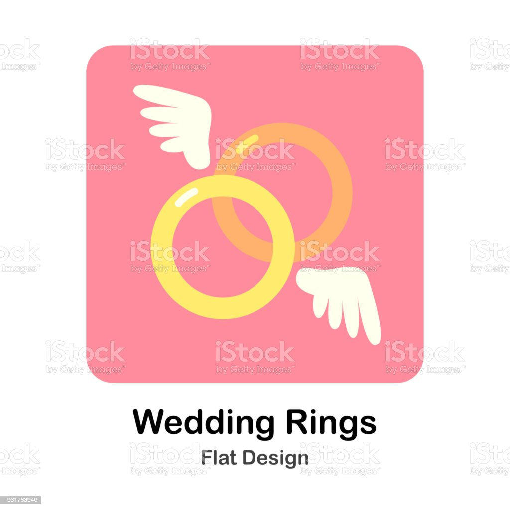 Wedding Rings Stock Vector Art & More Images of Concepts 931783946 ...