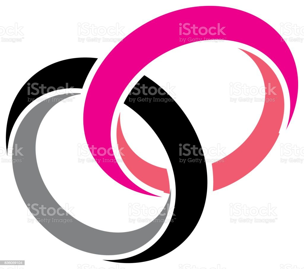 Wedding Rings Vector stock vector art 836059104 | iStock