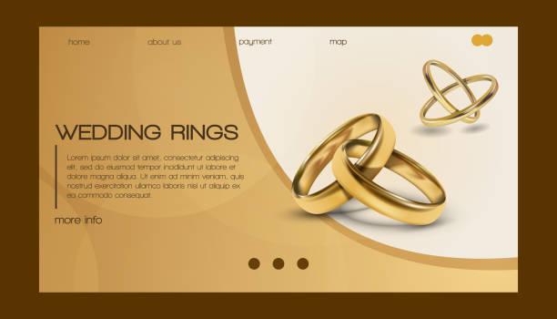 Wedding Rings Vector Art Graphics Freevector Com