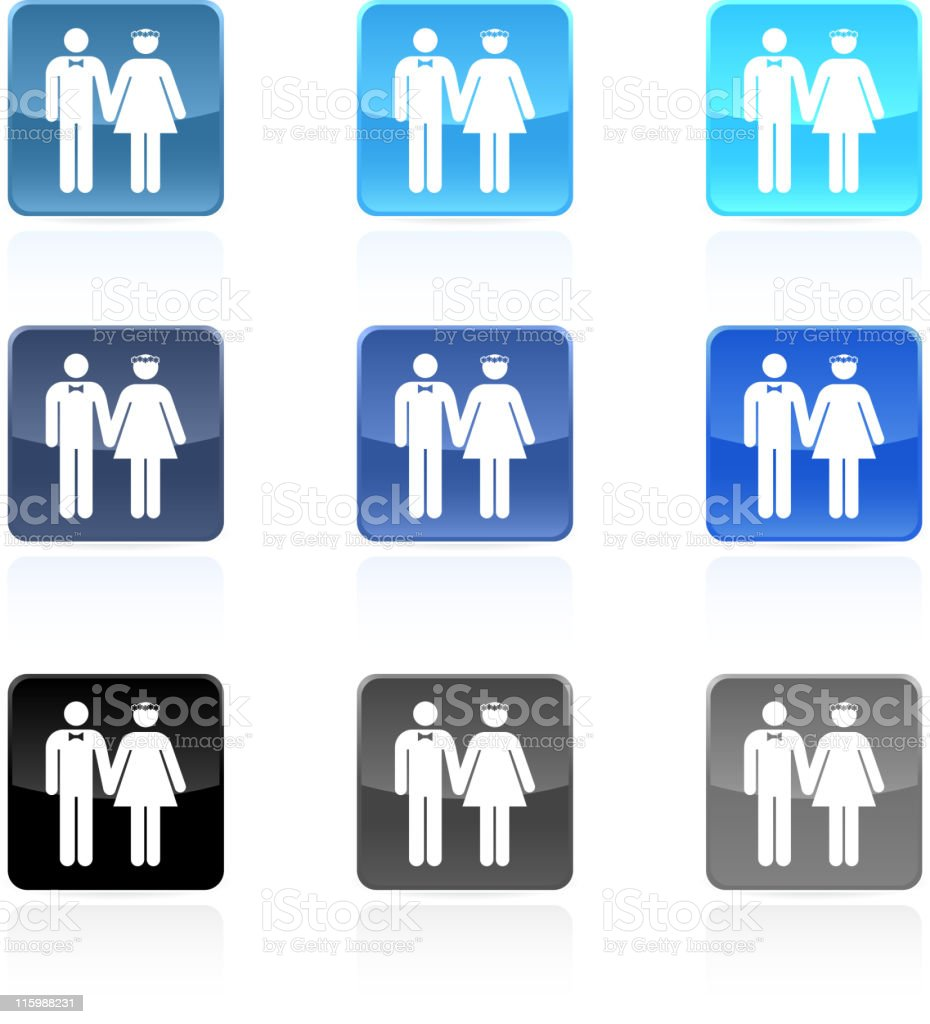 wedding royalty free vector icon set royalty-free stock vector art