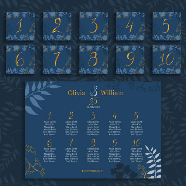 16 Wedding Seating Chart Illustrations Royalty Free Vector Graphics Clip Art Istock