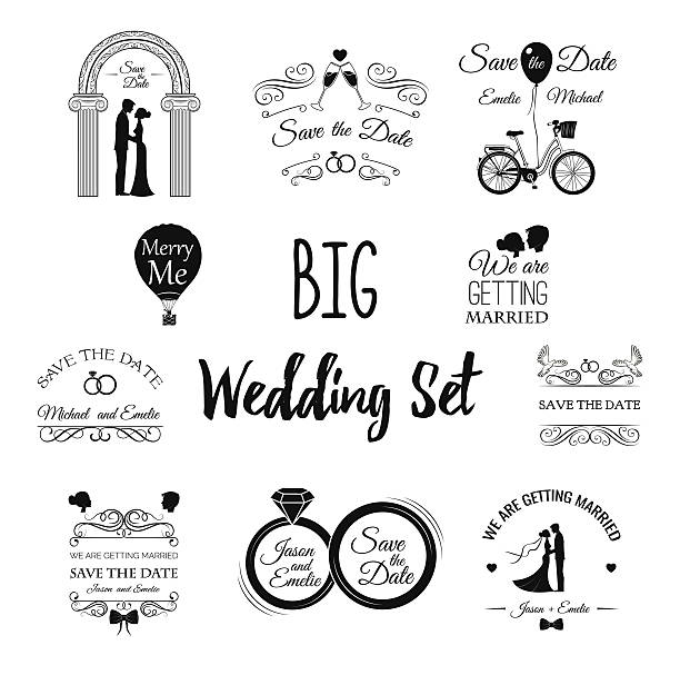 wedding set dress, couple, ring, invitation, bride, card, heart, groom, - 結婚式点のイラスト素材/クリップアート素材/マンガ素材/アイコン素材