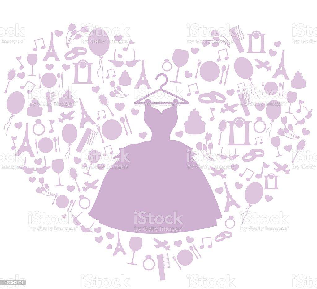 wedding set royalty-free stock vector art