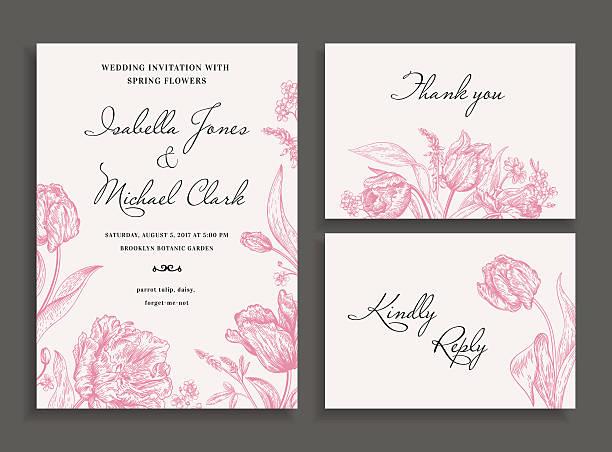 ウェディングセット、春の花ます。 - 結婚式点のイラスト素材/クリップアート素材/マンガ素材/アイコン素材