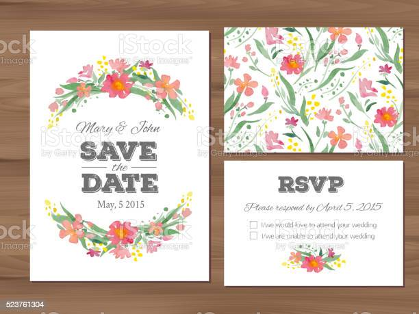 Wedding set with watercolor flowers and typographic elements vector id523761304?b=1&k=6&m=523761304&s=612x612&h=4xfq9wmx7uisd2h6zut9 pzeikw3kl3liizuit0en7a=
