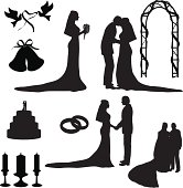 Wedding Silhouette Collection (vector+jpg)