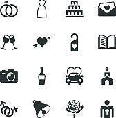Wedding Silhouette Vector File Icons.
