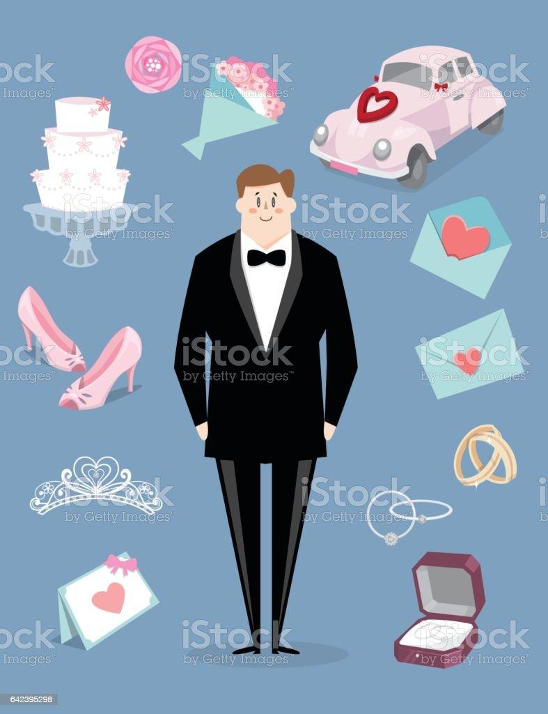 Wedding Story B vector art illustration