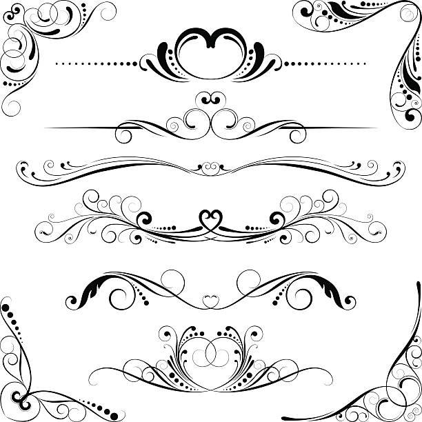 Hochzeit Windung floral-element – Vektorgrafik